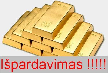 Aukso išpardavimas